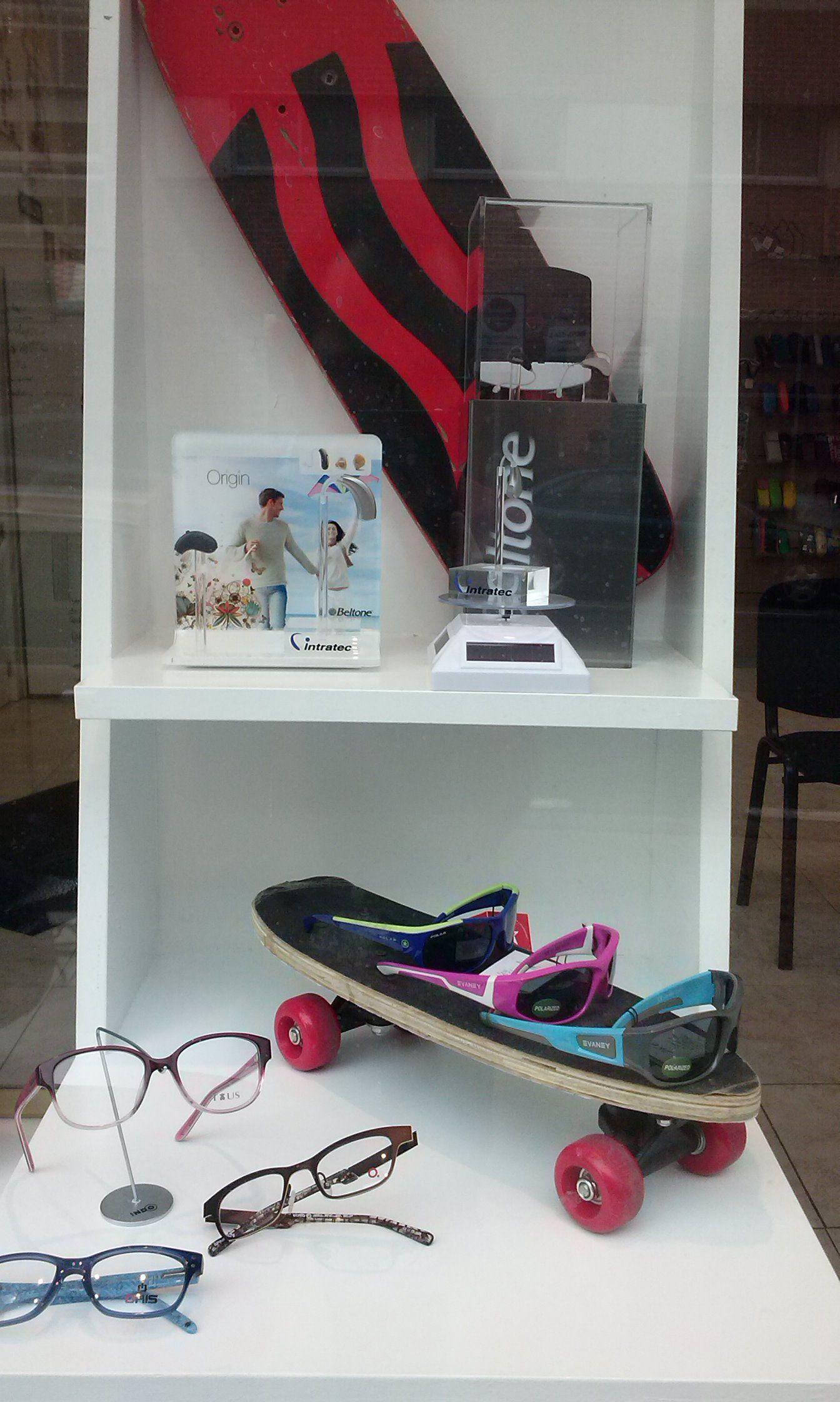 Sports Eyewear Display Decoração de vitrine, Ideias