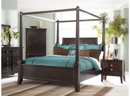 Martini Suite King Poster Canopy Bed Canopy Bedroom Sets King Bedroom Sets Canopy Bed Frame
