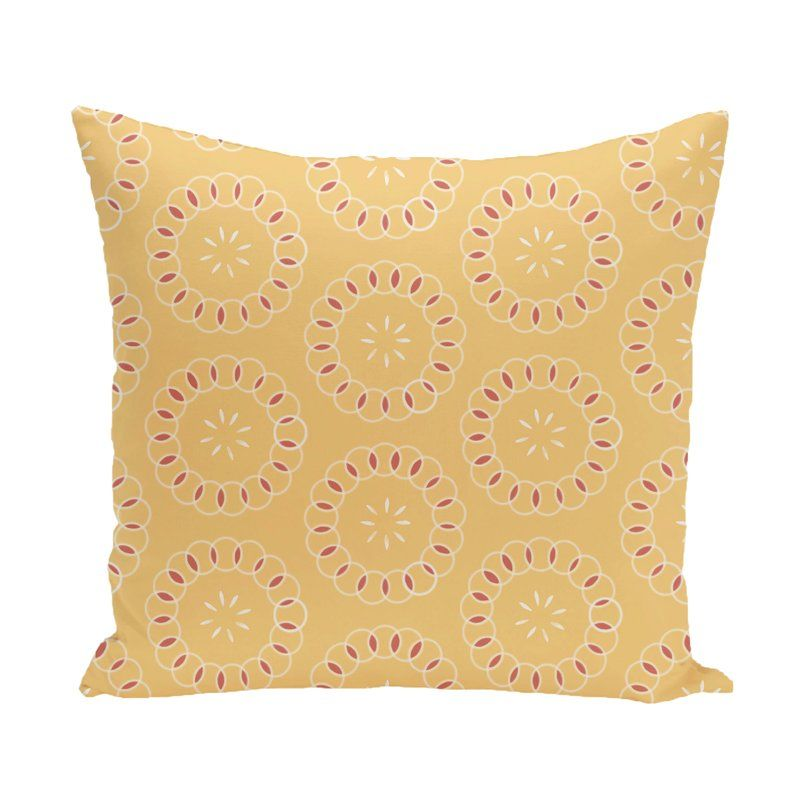 Stewie Floral Print Throw Pillow Yellow Decorative Pillows Throw Pillows Outdoor Pillow Covers