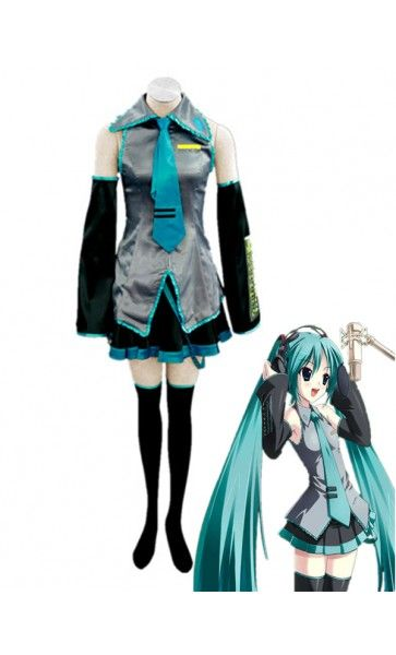 hatsune miku suit halloween costumes cosplay