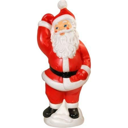 Dancing Santa Claus , Lighted Plastic Blow Mold, Light Up Outdoor - christmas blow up decorations