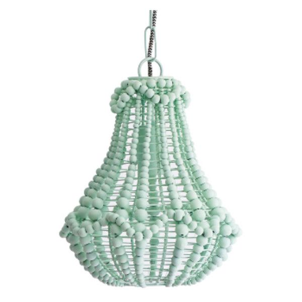 Ay Duck Beaded Chandelier Found On Polyvore Featuring Home Lighting Ceiling Lights Wood Lamp Wooden Chandeliers Bead Hanging Chain