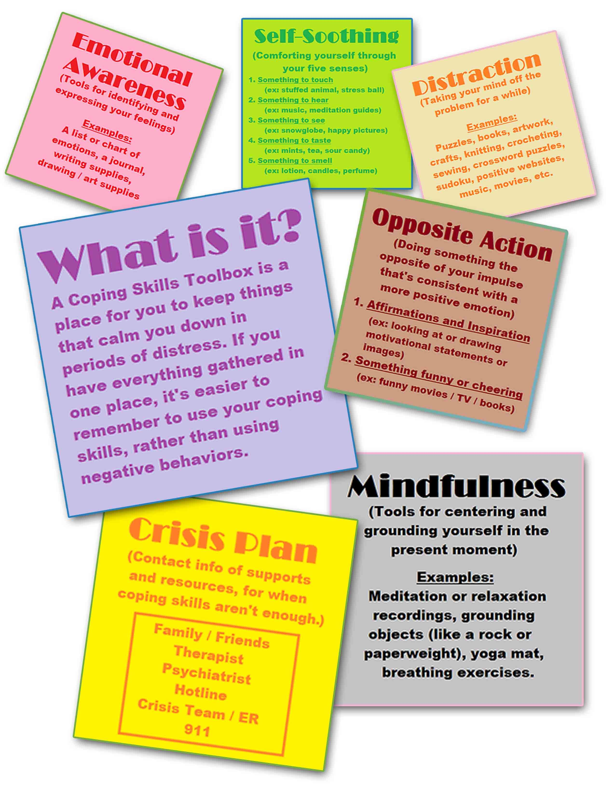 Coping Skills Toolbox With Images
