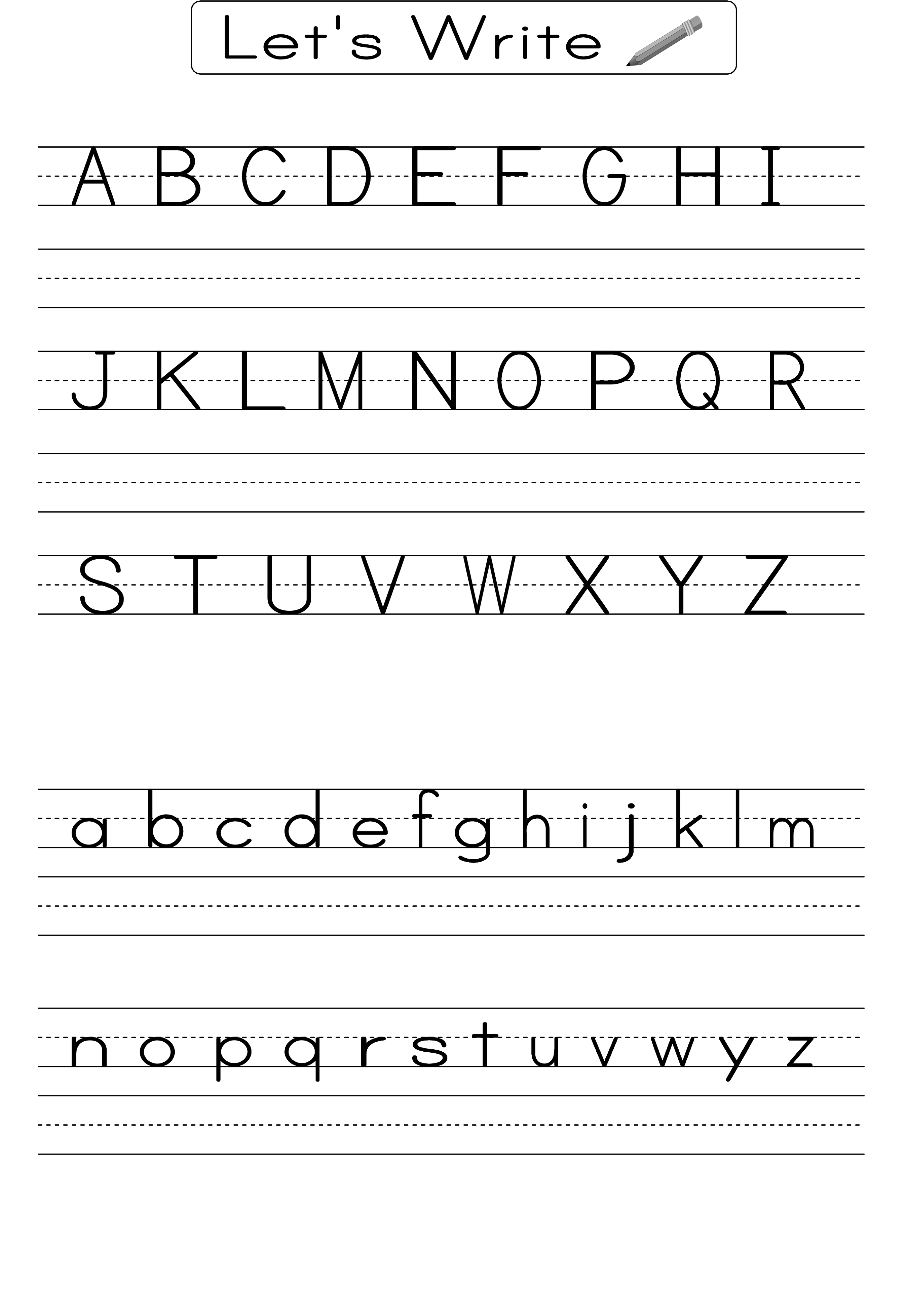 Writing Alphabet Worksheets For Students