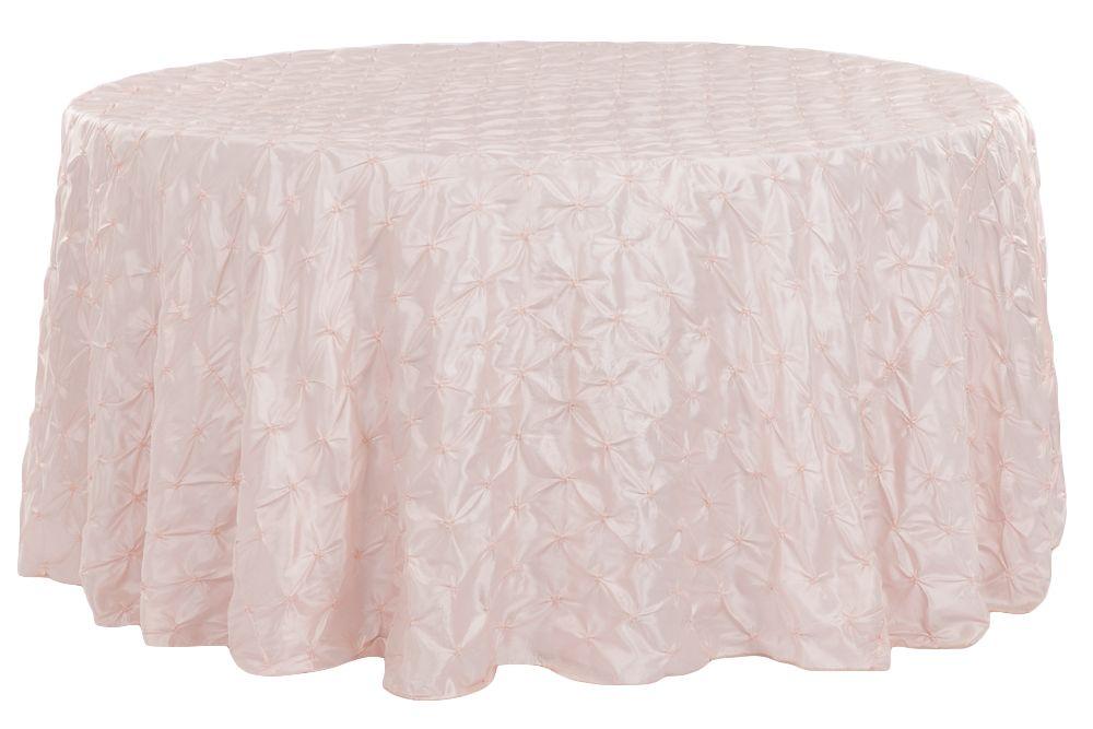 132 Pinchwheel Round Tablecloth Blush Rose Gold Blush Roses