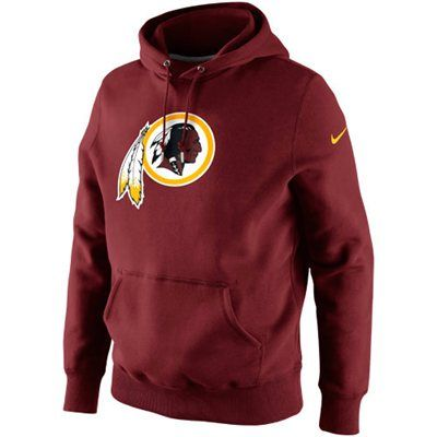 Nike Washington Redskins Classic Logo Pullover Hoodie Sweatshirt - Burgundy d92316a1e
