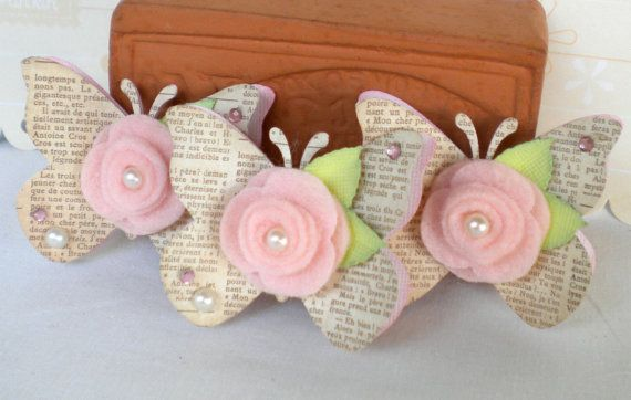 Sweet Butterfly Embellishments. Vintage by KindrasCreations
