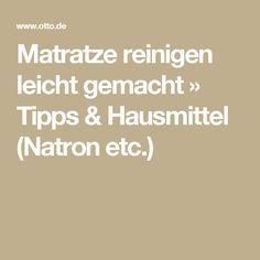 Matratze reinigen leicht gemacht » Tipps & Hausmittel (Natron etc ...