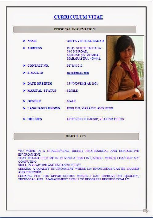 best it resume template Sample Template Example of Excellent - best resume format for freshers