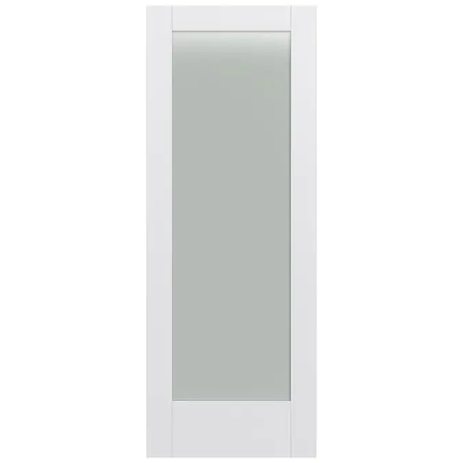 Jeld Wen Moda 1011 32 In X 80 In Primed 1 Panel Square Solid Core Frosted Glass Mdf Slab Door Lowes Com In 2020 Glass Doors Interior Wood Doors Interior Doors Interior