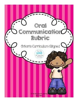 Oral communication rubric rubrics ontario curriculum and curriculum oral communication rubric stopboris Image collections