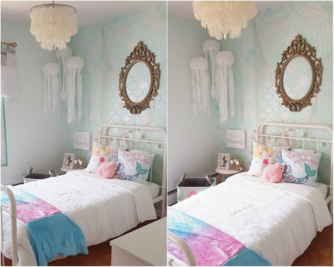 my sweet girls mermaid room is coming along so well only