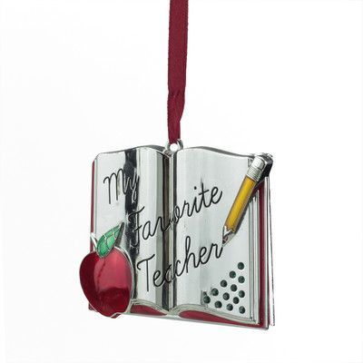 "Northlight Regal ""My Favorite Teacher"" Holiday Ornament with European Crystal"