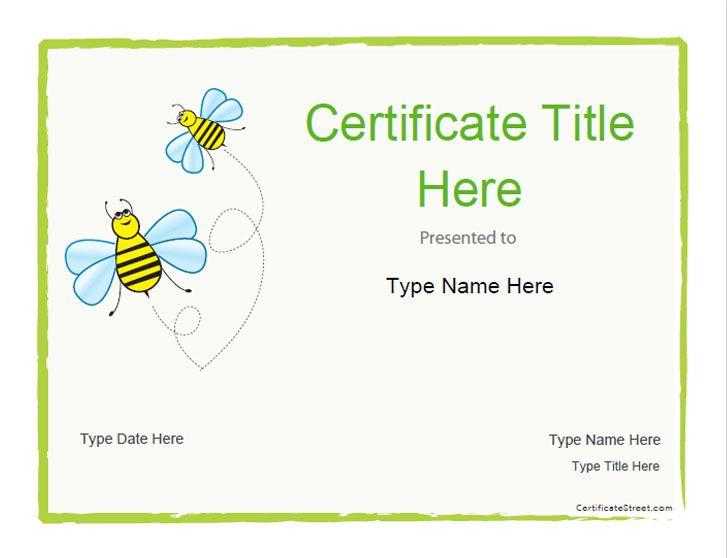 Blank Certificates - Blank Certificate Template for Kids