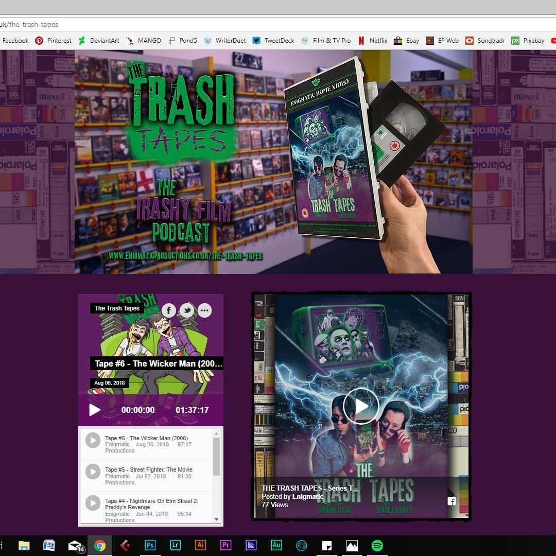TheTrashTapes webpage on our site is looking great with