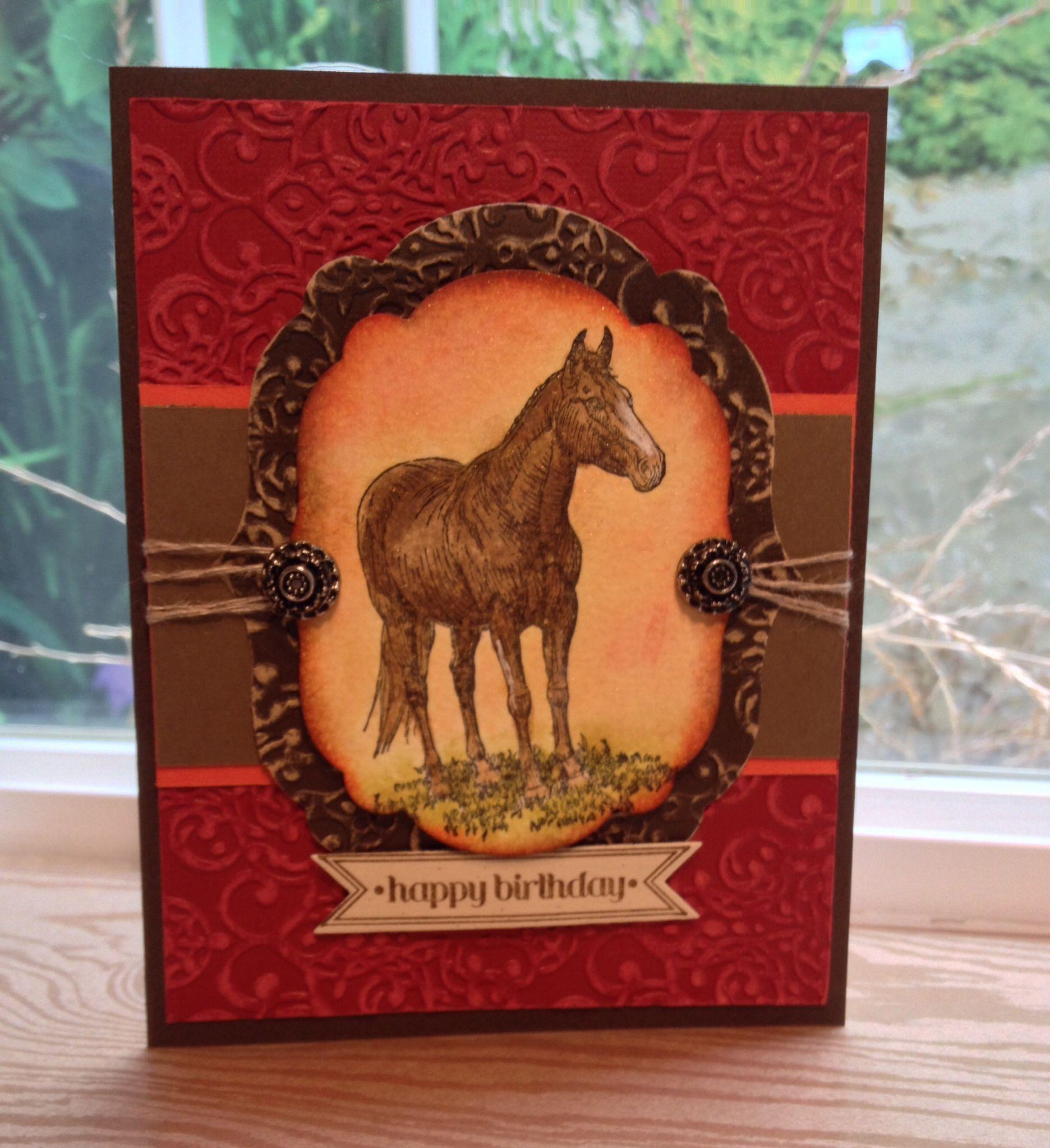 Барни открытка с лошадками