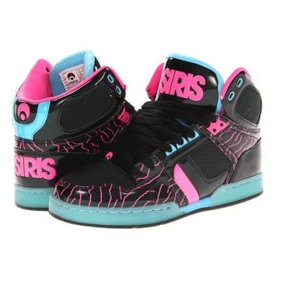 956a5dea8f8df8 Osiris NYC83 Slim Women s Skate Shoes - Black Pink Zebra Blue