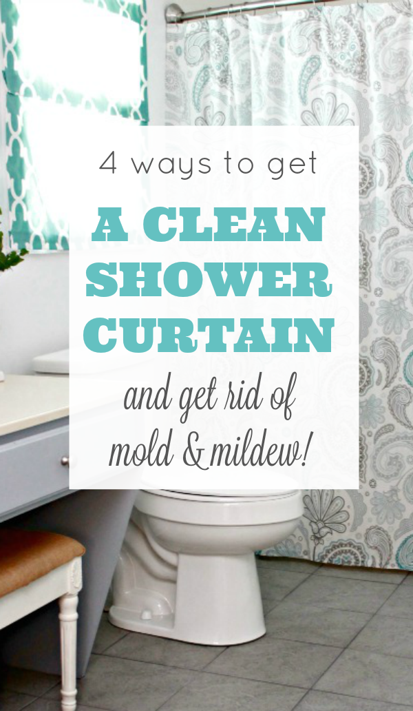 4 Easy Ways To Get A Clean Shower Curtain And Remove Mold Mildew Soap Scum Via Mom4Real