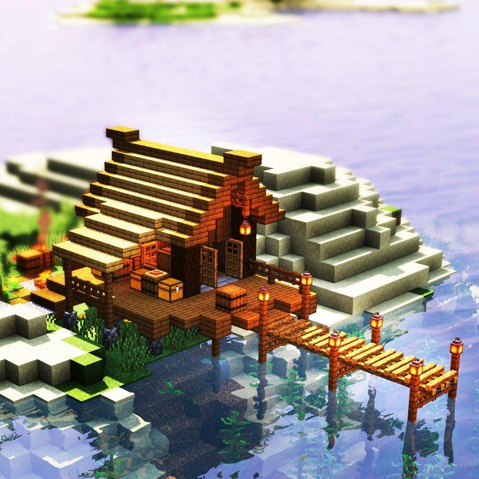 Fishing hut in Minecraft Minecraft Fishing house