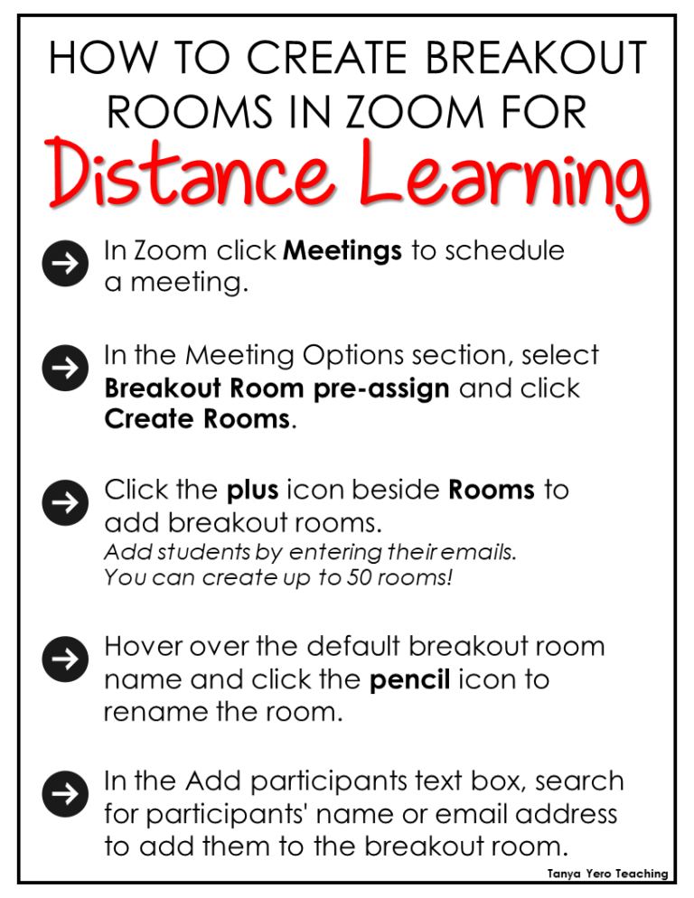 How To Create Zoom Breakout Rooms For Distance Learning Distance Learning Learning Zoom Tips
