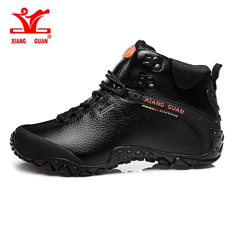 7c4e91abdaa5c 2017 XIANG GUAN Man Hiking shoes outdoor sneaker climbing High Leather  mountain sport trekking tourism boots botas waterproof