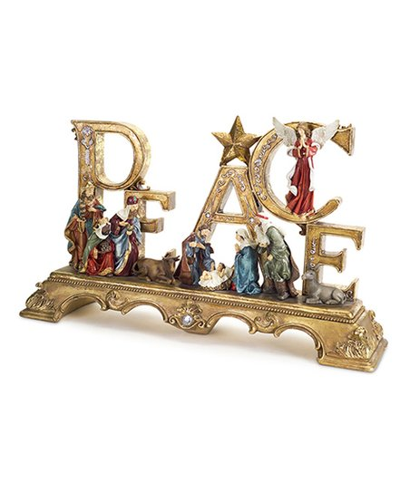 Bring A Peaceful Accent To Your Home With This Block Sign Featuring A Serene Nativity Scen