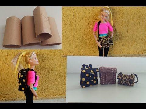 Como Fazer Uma Miniatura De Mochila Para Barbie Ever After High E Outras Bonecas Doll Bag Youtube Diy Doll Barbie Diy Barbie Dolls Diy