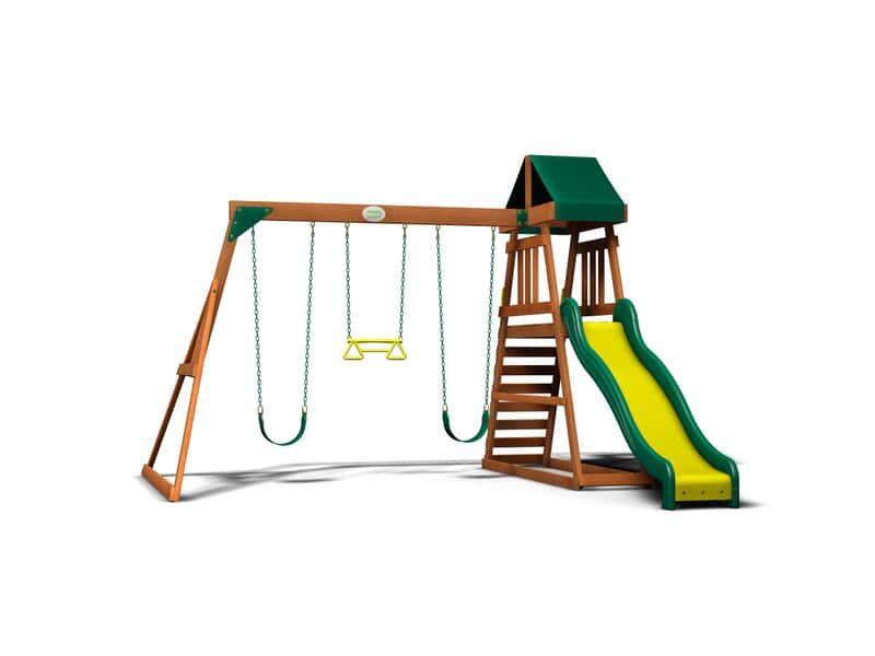 Prescott Wooden Swing Set | Wooden swings, Backyard, Discovery