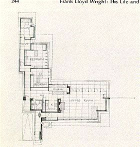 usonian_floor_plan | Frank lloyd wright design, Vintage ...