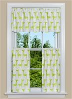 Geometric Kitchen Curtain Panel In Avocado Contemporary Curtains Contemporary Decor Geometric Kitchen