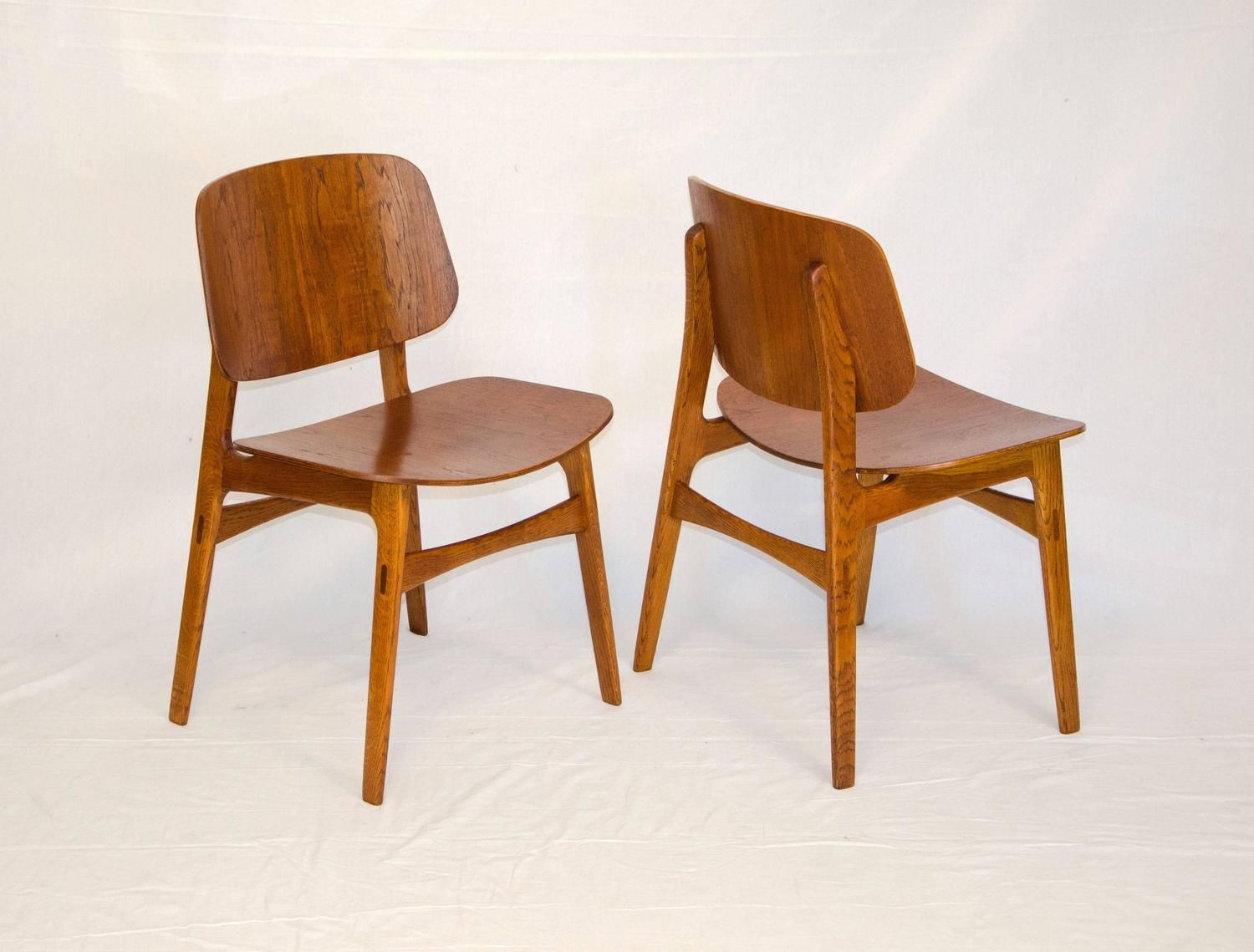 Commercial Dining Room Chairs Enchanting Set Of Six Bent Ply Teak And Oak Chairsbørge Mogensen  Teak Design Decoration