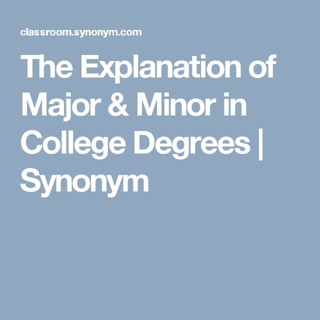 166d76f0f8cc21b04aaad25fdbcf435b - How To Get A Major And Minor In College