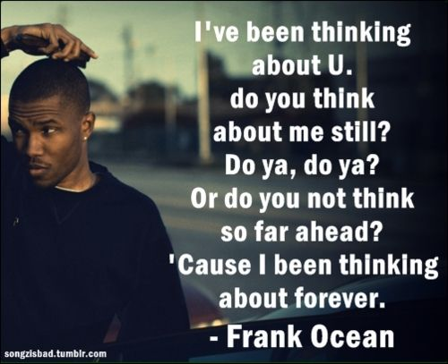 """Frank Ocean """"Thinking About You"""""""