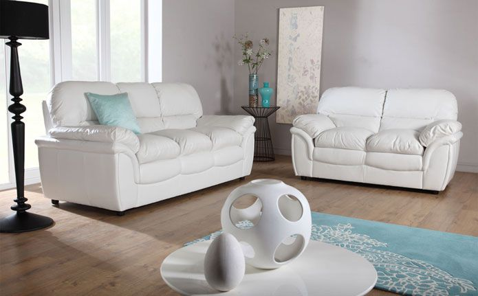 Pin by zenayda amavizca on living room ideas cream - Living room with cream leather sofa ...