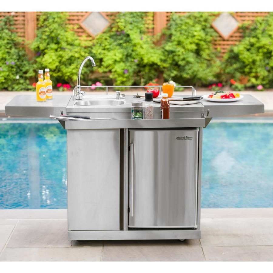 Leisure Season Modular Outdoor Kitchen Modular Refrigerator Okc158 In 2020 Diy Outdoor Kitchen Modular Outdoor Kitchens Kitchen Design Open