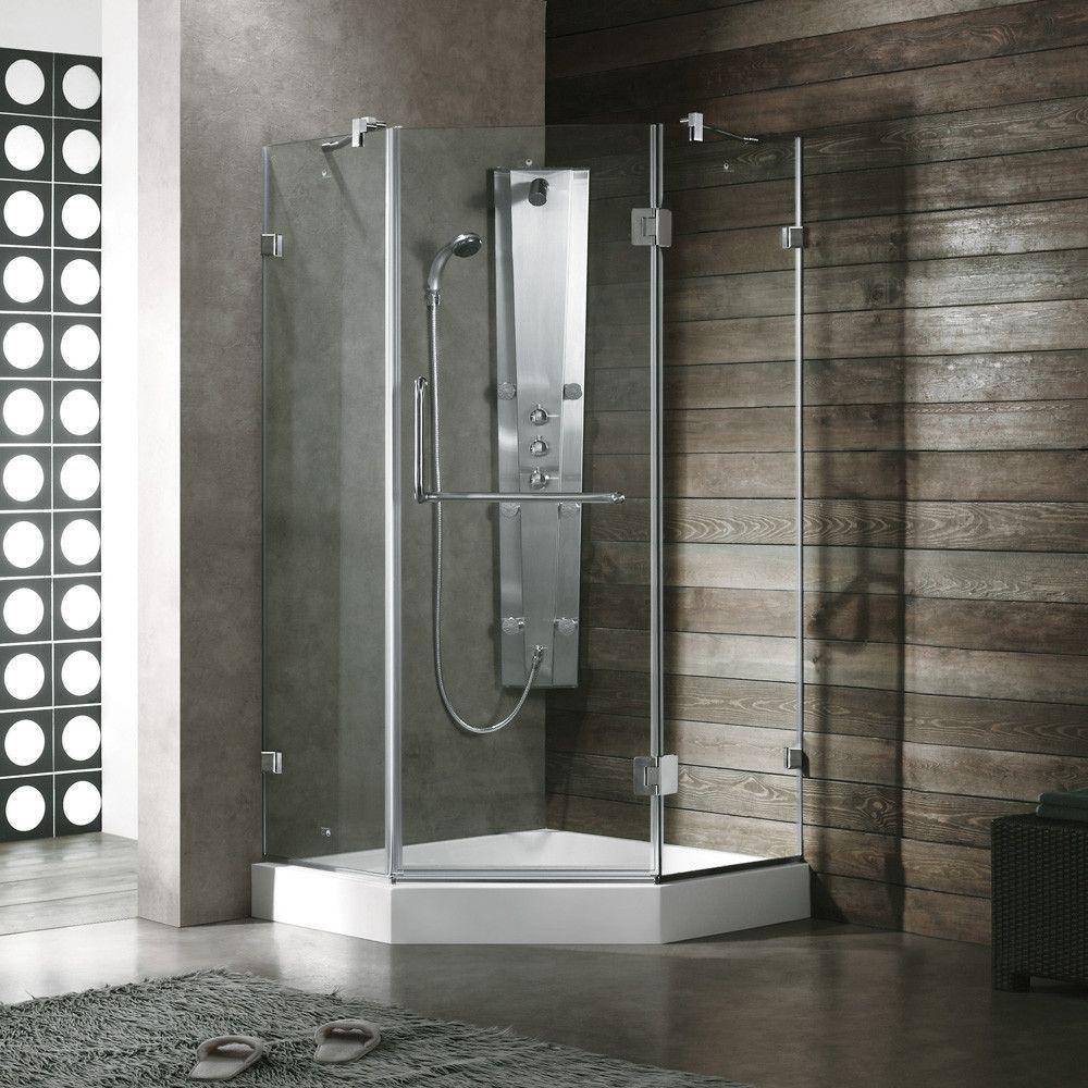 Vg6031stcl40l 40 X 40 Corner Shower Enclosure With Frameless