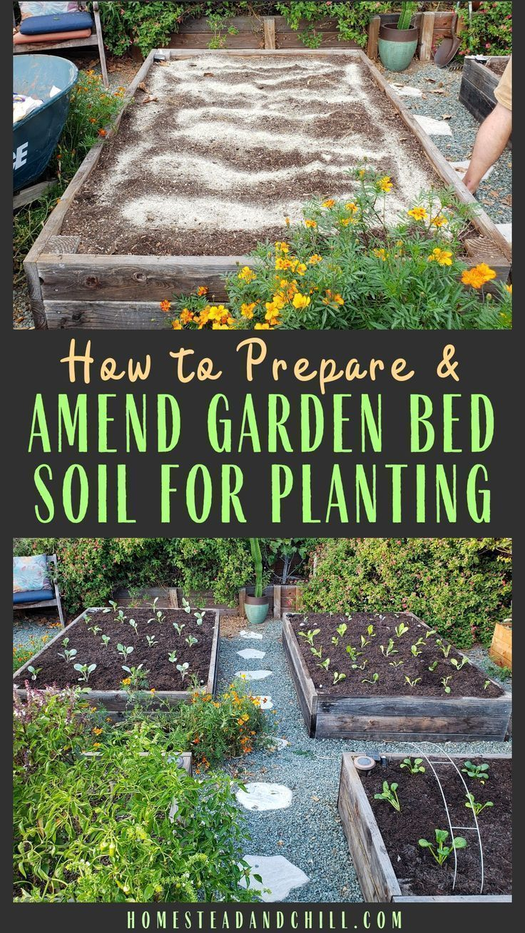 How to Prepare & Amend Garden Bed Soil Before Planting or Between Seasons is part of Garden beds, Garden soil, No till garden, Veggie garden, Garden planning, Organic gardening - Learn how to prepare and amend garden bed soil for planting, including removing old plants, notill gardening, fertilizer, compost, mulch & more