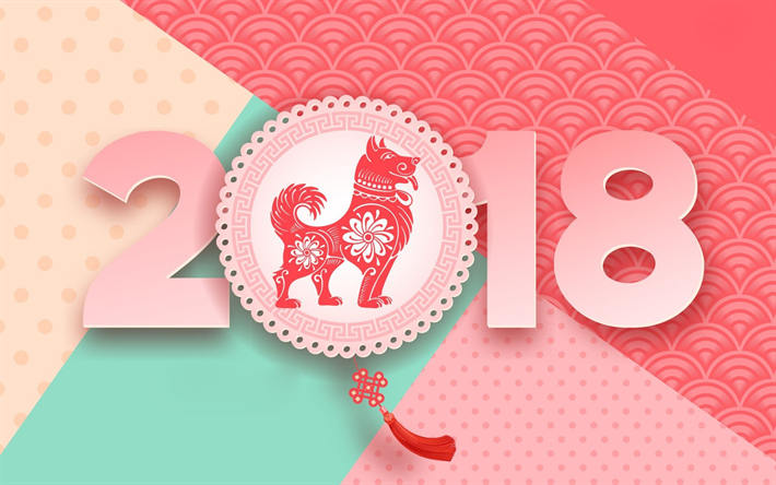 download wallpapers new year 2018 year of the dog 2018 concepts chinese calendar