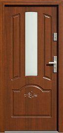 Classic wooden exterior door model with glass pattern 502, …