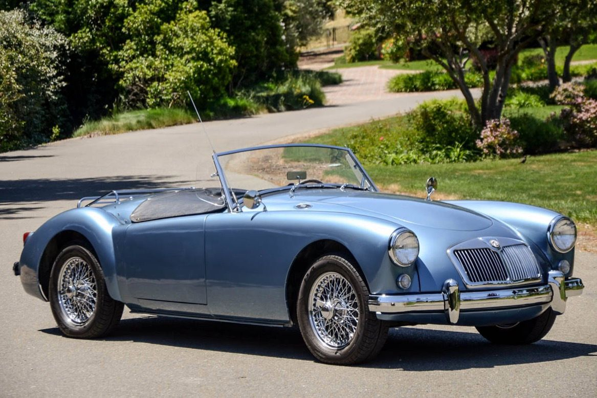 40 Years Owned 1959 Mg Mga Roadster Roadsters Tonneau Cover Black Leather Seating