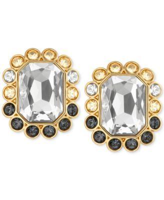 68d0d3839 Swarovski Gold-Tone Darling Pierced Stud Earrings | macys.com ...