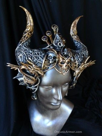 dragon, crown, horns, headdress