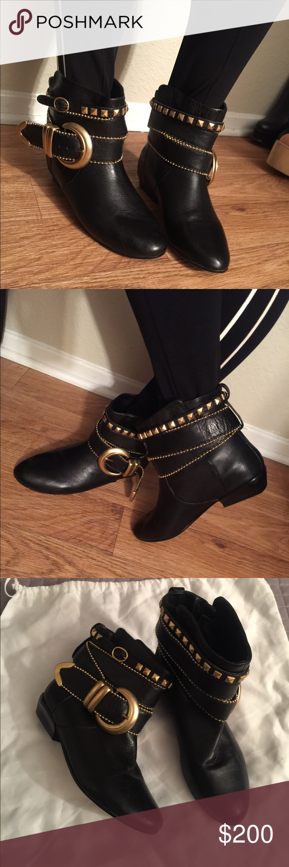 Dolce Vita RARE FIND! Casual ankle boot with multi strap detail complete with buckles and punky inspired studs. Used a couple of times. Has tons of life left. No major damage or flaws. Size 6 but could also fit size 6.5 Dolce Vita Shoes Ankle Boots & Booties