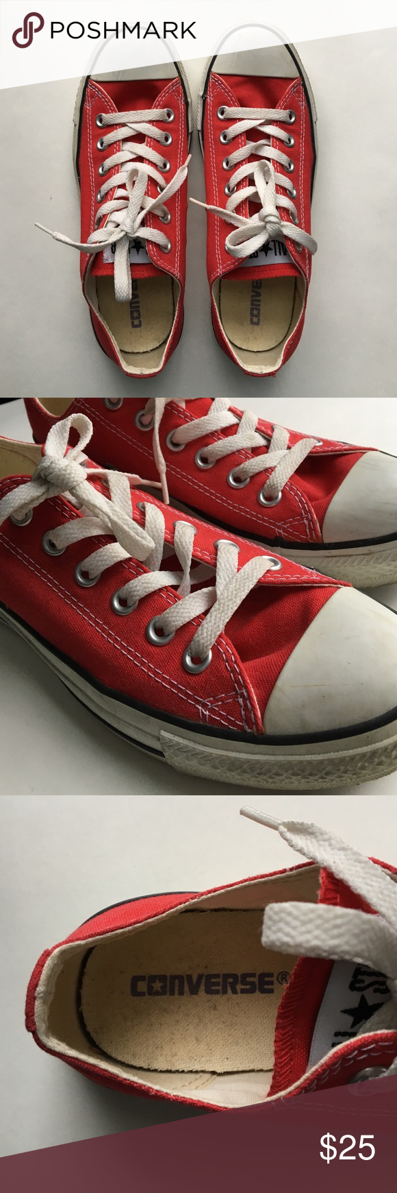 Converse Chuck Taylor All Star Low Top Fun and funky pair of sneakers. Worn only twice. A few scuffs but otherwise perfect condition. Size 8. Converse Shoes Sneakers