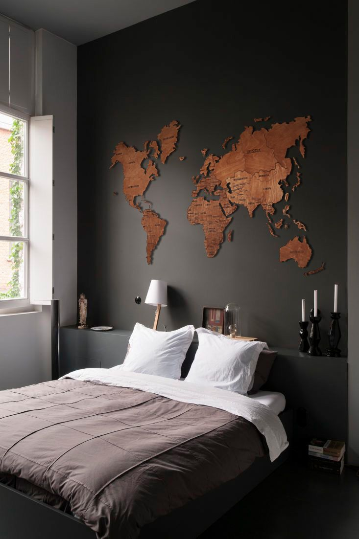 Wood Wall Art Wall Map of the World Map Christmas Gift Wooden Travel Push Pin Map Rustic Home 5th Anniversary Lover Gift Dorm Decor #woodenwalldecor