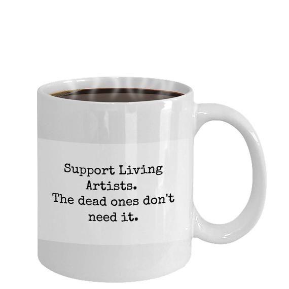 Photo of mugs for artists  artistic ceramic mug  gift idea for artist artist gift ideas artistic gift  gift f