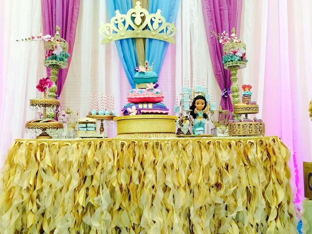 Princess Jasmine Aladdin Baby Shower Party Ideas Princess
