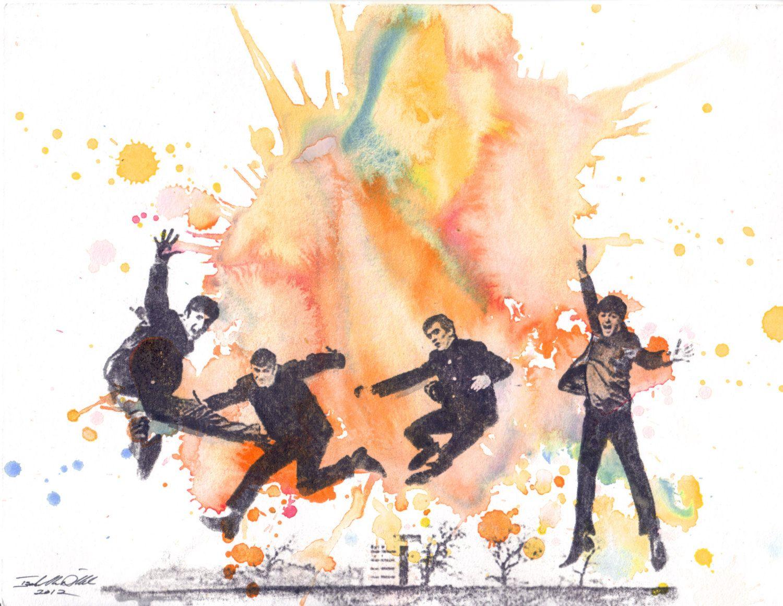 The Beatles Art Watercolor Painting Original Watercolor Painting
