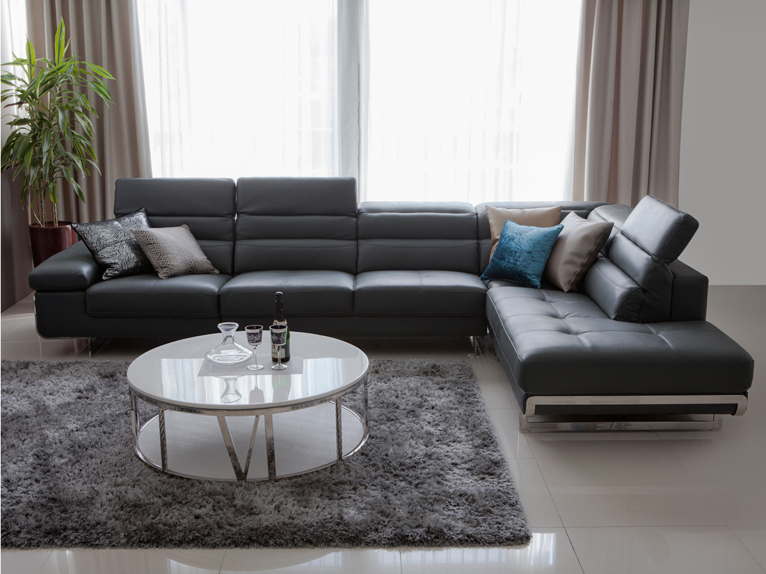 Pomeode modern leather sofa modern leather sofa modern sofa furniture companies modern