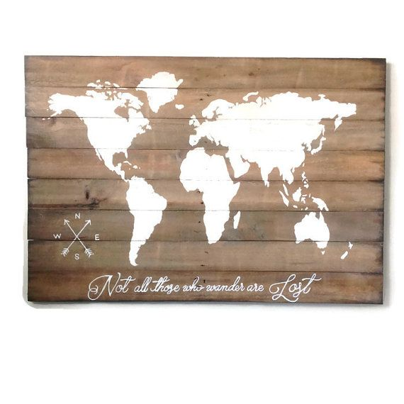World Map Wood Wall Art wood world map wall art / large wall art map / reclaimed wood